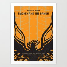 No398 My smokey and the bandits minimal movie poster Art Print