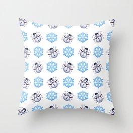 C1.3D Snowmoji Throw Pillow