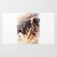 big sur Area & Throw Rugs featuring BIG SUR by TOO MANY GRAPHIX