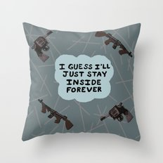 Hoplophobia Throw Pillow