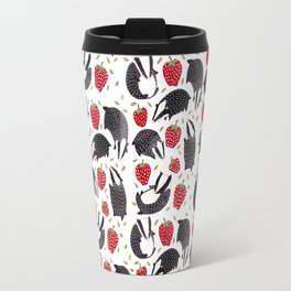 Badgers and Strawberries Travel Mug