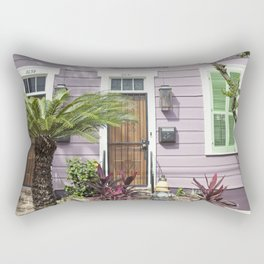 New Orleans Marigny Purple House Rectangular Pillow