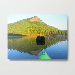 """Mountain and Small Obelisk.""  Nature Series #2. Metal Print"