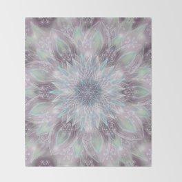 Lavender swirl pattern Throw Blanket
