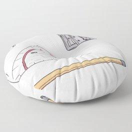 Cute nerdy tools Floor Pillow