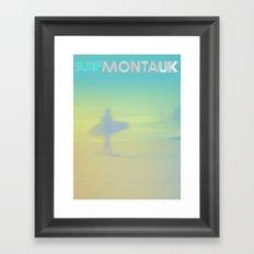 Surf Montauk Poster Framed Art Print