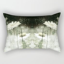 Daisy Love b&w, photography 2009 Rectangular Pillow