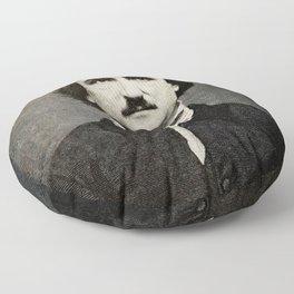 Edgar Allan Poe Engraving Floor Pillow