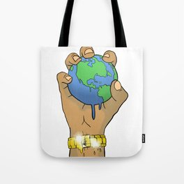 Quality Key: World at the Palm Tote Bag
