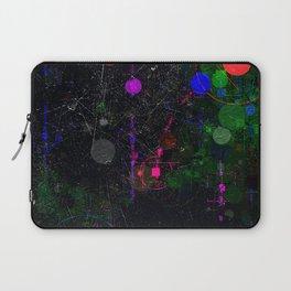 Digital Artist Textured Paint Splash Abstract Laptop Sleeve