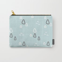 Blush blue white gray hand painted geometric pattern Carry-All Pouch