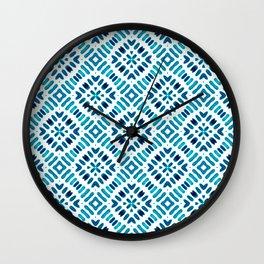 Shibori Watercolour no.7 Turquoise Wall Clock