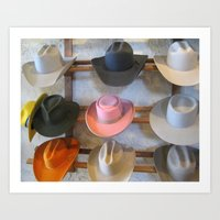 hats Art Prints featuring Hats by Judith Kimber Photography