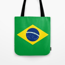 Flag of Brazil - Hi Quality Authentic version Tote Bag