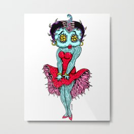 Monster Boop Metal Print
