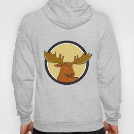 Moose Head Circle Cartoon Hoody