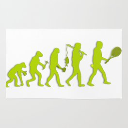 Evolution of Tennis Species Rug