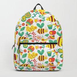 Cute Bumblebee Ladybug Butterfly Garden Pattern Backpack