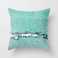 pain Throw Pillows featuring pain by Claudia Drossert