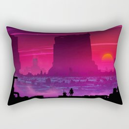 Synthwave Space: Twilight horizon #6 (pixelart) Rectangular Pillow
