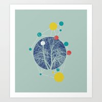 planets Art Prints featuring Planets by Tamsin Lucie