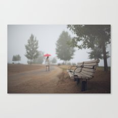 Early commute in the fog Canvas Print