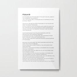 Psalm 91 #minimalism 1 Metal Print