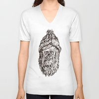 chewbacca V-neck T-shirts featuring Hipster Chewbacca  by LaurenNoakes