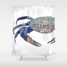 Manhole Crab with Lace Shower Curtain