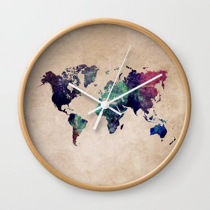 Cold World Map #map #worldmap Wall Clock