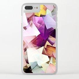 Geometric Stacks Multi Clear iPhone Case