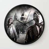 zombies Wall Clocks featuring Zombies by Joe Roberts