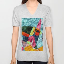 The laughing horse Unisex V-Neck