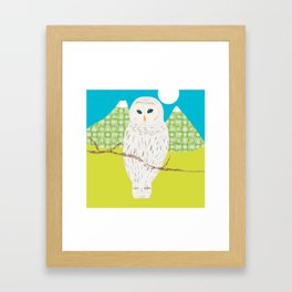 Blanche chouette Framed Art Print