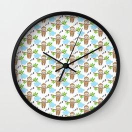 Sloth Neck Gator Cute Sleepy Sloth Wall Clock