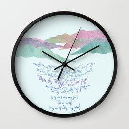 It Is Well With My Soul-Hymn Wall Clock