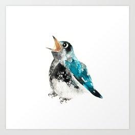 Bluebird Birthday Wish Art Print