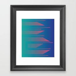 Neon Fade Framed Art Print