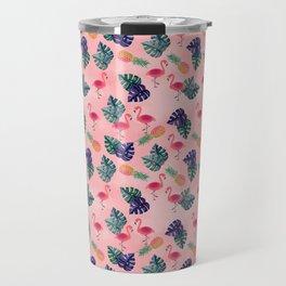 Tropical, Flamingo, Pineapple, Summer Fling Travel Mug