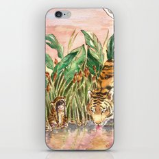 Thirsty Tigers iPhone & iPod Skin
