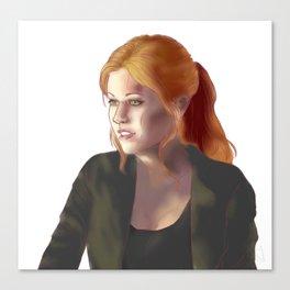 Clary Canvas Print