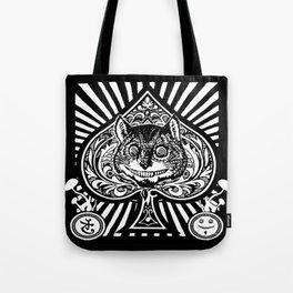 Cheshire Cat Black and White Tote Bag