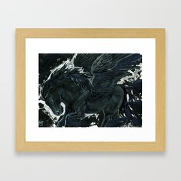 Dark Pegasus Framed Art Print