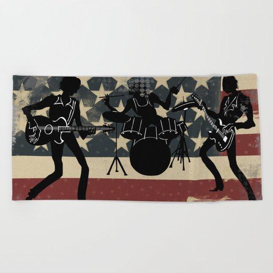 Rock America Beach Towel