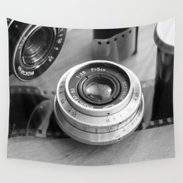 Accessories from old film cameras. Wall Tapestry
