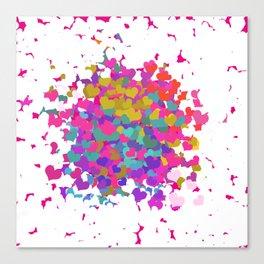 Heart leaf colorful Canvas Print