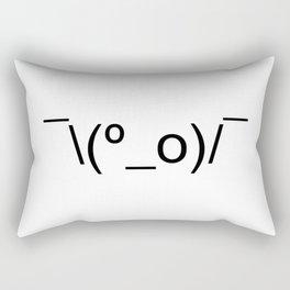 I Dunno LOL Emoticon ¯\(º_o)/¯ Japanese Kaomoji Rectangular Pillow