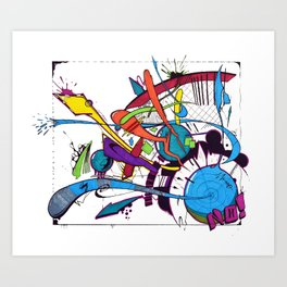 Explosions 2 Art Print