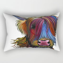 Scottish Highland Cow ' PoDGER ' by Shirley MacArthur Rectangular Pillow