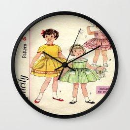 Childrens Vintage Little Girls Play 2 Wall Clock